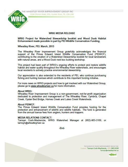 Media release WCF fall 2014